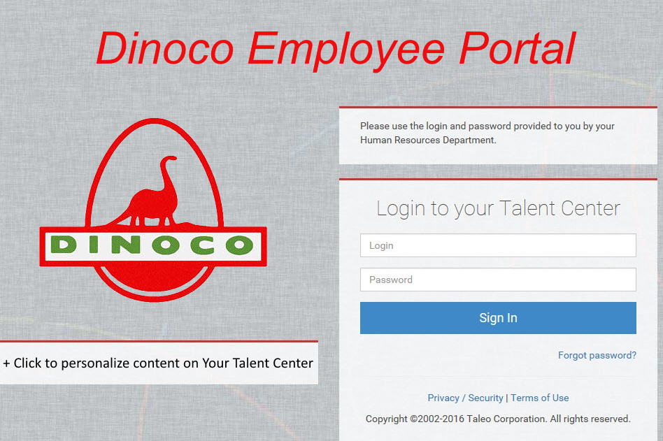 Talent Center Login